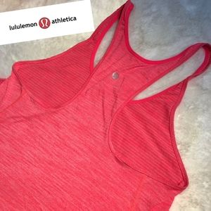 Lululemon racerback tank top orange/pink